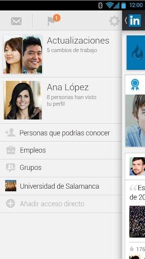 Aplicación de LinkedIn como una de las mejores aplicaciones de redes sociales para utilizar con Andr