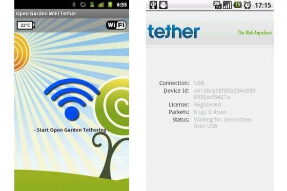 Aplicaciones de tethering alternativas para Android