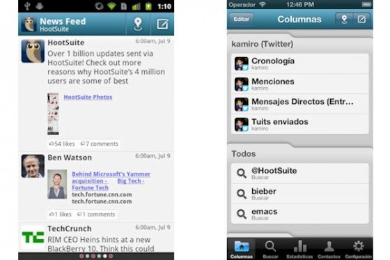 Hoosuite para Android e iOS