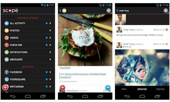 Interfaz de Scope para Android