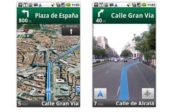 Google Maps Navigation en acción 1
