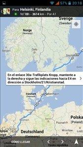 Indicaciones en Google Maps para smartphone