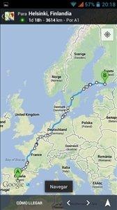 Navegar en Google Maps para smartphone