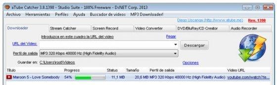 Descarga y conversión a MP3 del vídeo en proceso