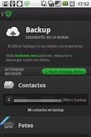 Función de backup o copia de seguridad