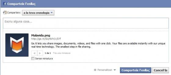 Compartir archivos con Ge.tt en redes sociales