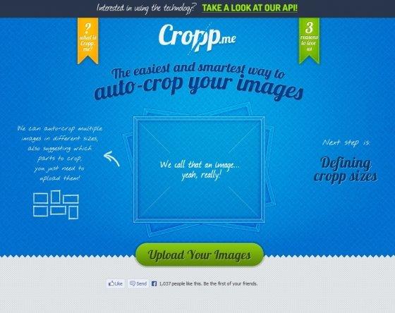 Redimensionar imágenes con Cropp.me