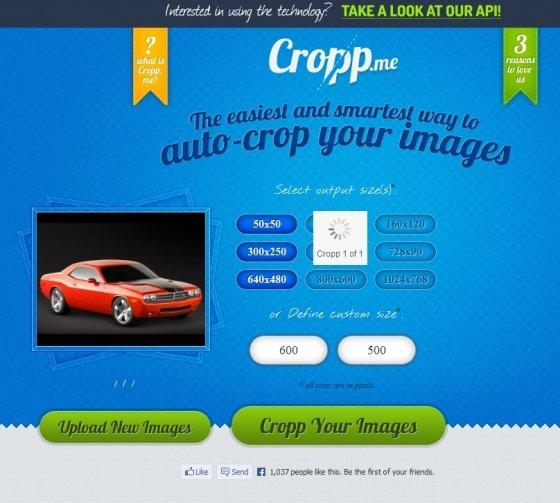 Aplicar el nuevo tamaño a las imágenes con Cropp.me
