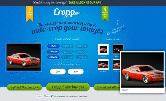 Vista previa de imágenes en Cropp.me