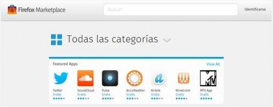 Tienda de aplicaciones de Firefox OS