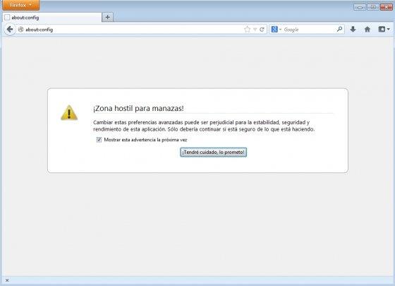 Configuración de Firefox