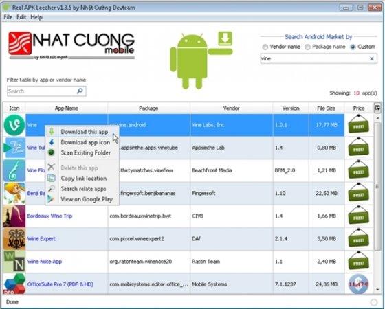 Buscar APK desde Google Play