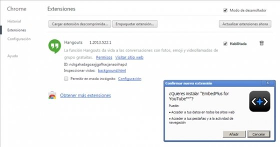 Instalar CRX en Chrome