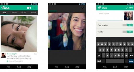 Capturas de la aplicación Vine para Android