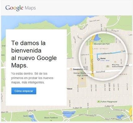 Invitaciones para el nuevo Google Maps