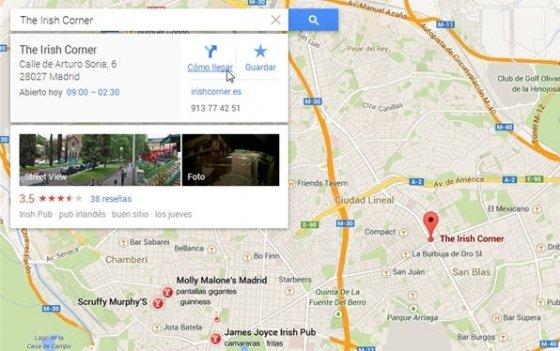 Localización de un pub en madrid