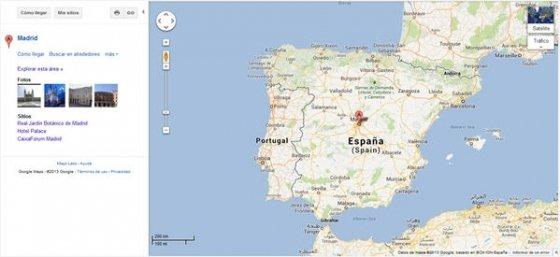 Mapa de Google Maps antiguo