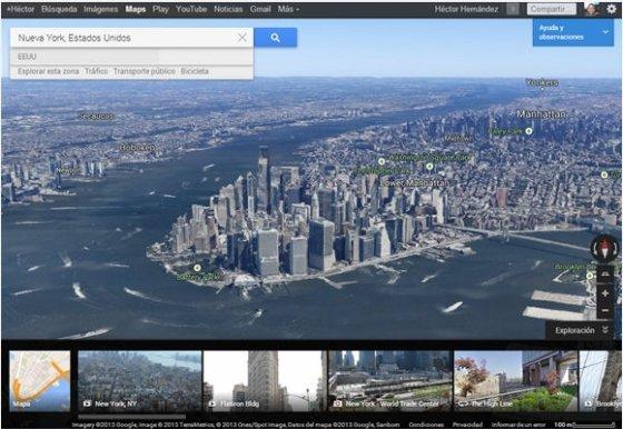 Imágenes 3D del nuevo Google Maps