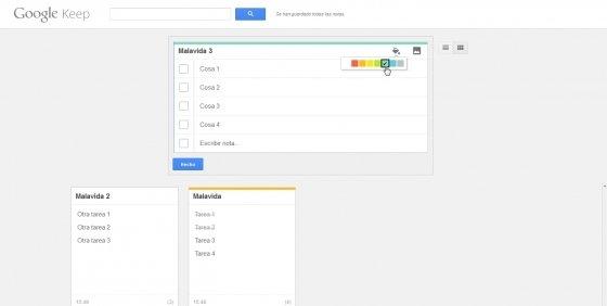 Crear listas de tareas online con Google Keep