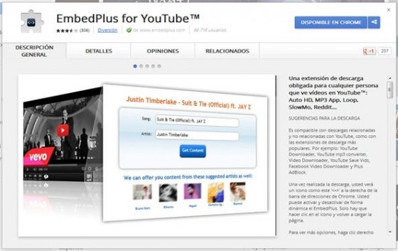 EmbedPlus en Google Play