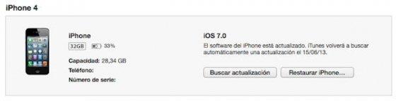 Buscar actualización para iPhone