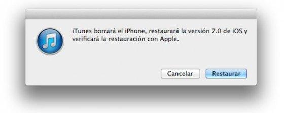 Restaurando iOS 7