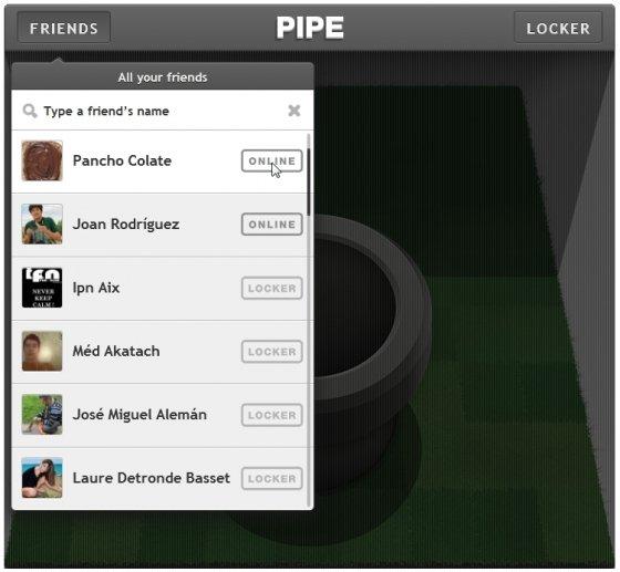 Elegir en Pipe el contacto a quien enviar archivos