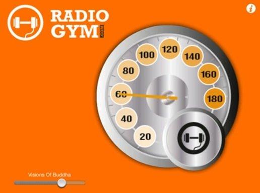 Interfaz de la aplicación RadioGym
