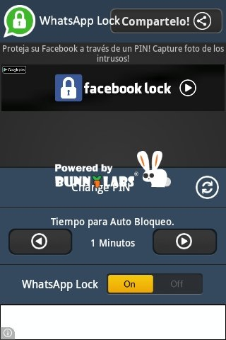 Establecer PIN para bloquear WhatsApp