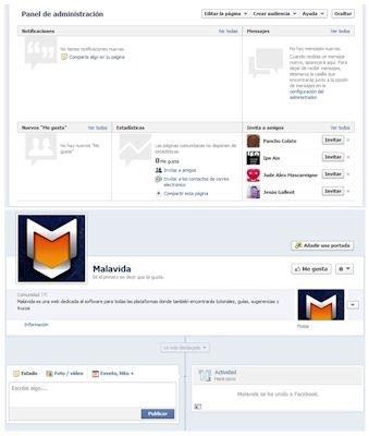 Página de Facebook ya creada