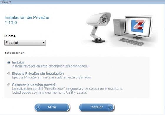 Instalación de PrivaZer