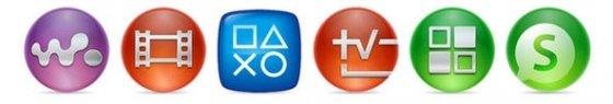 Aplicaciones multimedia de Sony incluidas