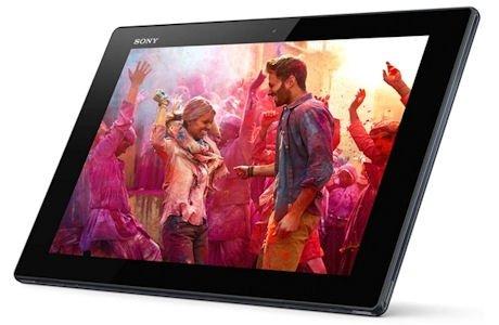 Imagen a color en la pantalla de la tableta