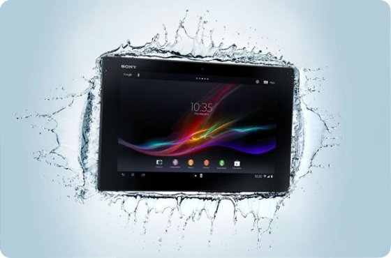 Xperia Tablet Z sumergido en agua