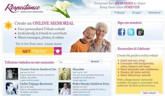 Respectance, red social para personas fallecidas