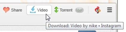 Botones multimedia y social media de Torch Browser