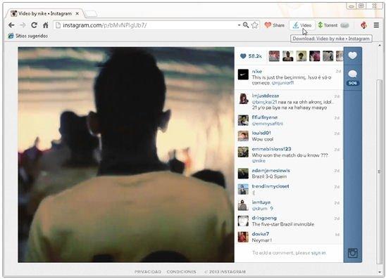Vídeo a descargar de Instagram