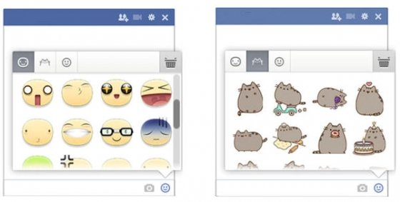 Acceso hasta los nuevos stickers de Facebook