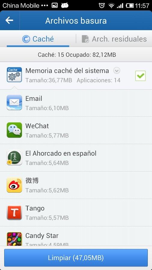 Liberar espacio en Android con Clean Master