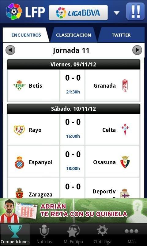 Liga BBVA es la aplicación de la Liga Española de Primera División para Android e iPhone