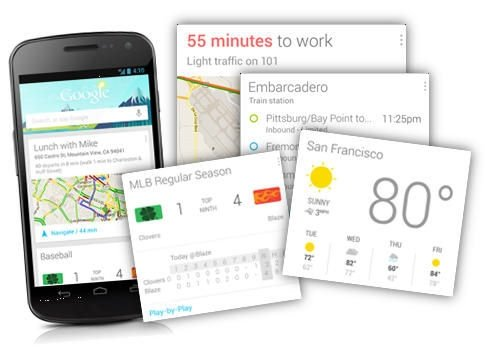 Función Google Now integrada en la aplicación Búsqueda de Google