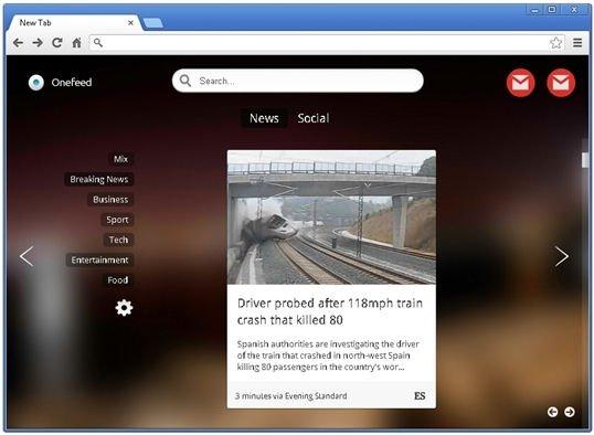 Sección dedicada a las noticias, las suscripciones RSS y la actividad de redes sociales
