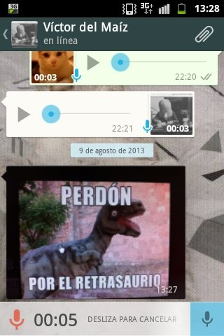 Cancelar un mensaje de voz en Whatsapp