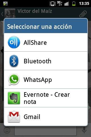 Compartir un mensaje de voz en Whatsapp