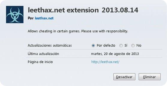 Complemento para Firefox Leexthax