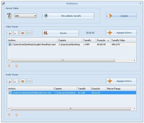 Importar archivo de vídeo y audio