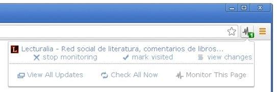 Notificación de nuevo contenido en una página web