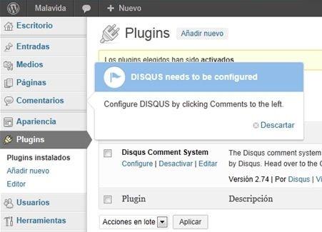 Configurar el plugin de Disqus en WordPress