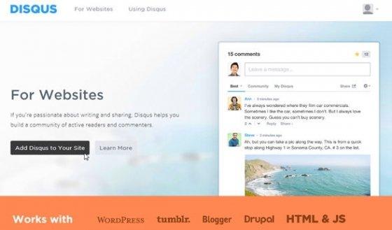 Opción para enlazar tu blog con Disqus