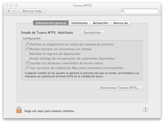 Tuxera NTFS en un ordenador Mac